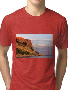 Sunset at Pointe des Lombards near Cassis, France Tri-blend T-Shirt