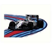Williams Martini Racing Felipe19 Art Print