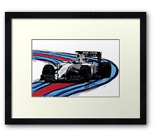 Williams Martini Racing Felipe19 Framed Print