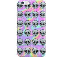 Alien Emoji Holographic Effect  iPhone Case/Skin