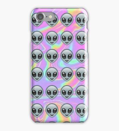 Alien Emoji Holographic Effect  iPhone Case/Skin