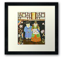 Traditional Korean Wedding Framed Print