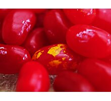 Red Jelly beans Photographic Print