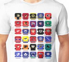 8-Bit Hockey Jerseys 2 Unisex T-Shirt