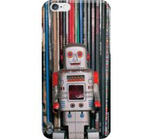 Vintage Toy Robot and Vinyl Records iPhone Case/Skin
