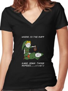 Where is the Map Tingle ? Women's Fitted V-Neck T-Shirt