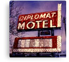 Diplomat Motel Canvas Print