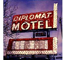 Diplomat Motel Photographic Print