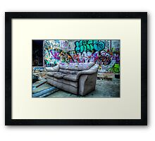 Come Sit Down! Framed Print