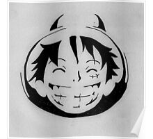 Luffy smiling stencil Poster