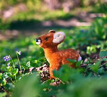 Bambi in the garden by Iheartrecords