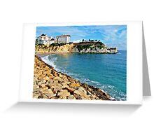 Benidorm's little Mal Pas beach Greeting Card