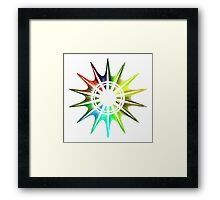 Chroma Star Framed Print