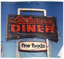 Littleton's Diner Sign Poster