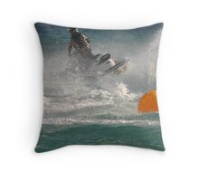 Super Charged Spray! Throw Pillow