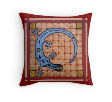 Tile Salamander Throw Pillow