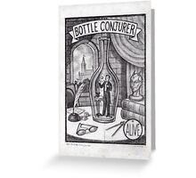 The Bottle Conjurer Greeting Card