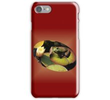 Frog ~  He Almost Sunk the Lily Pad iPhone Case/Skin