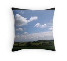 Somerset in spring Throw Pillow
