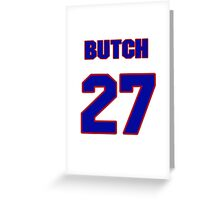 National baseball player Butch Henry jersey 27 Greeting Card