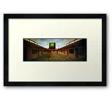 Motel pinhole Framed Print