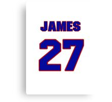 National baseball player James Loney jersey 27 Canvas Print
