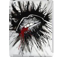 Gothic lips first kiss iPad Case/Skin