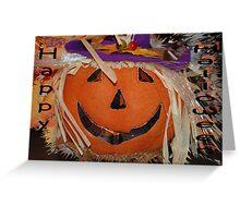 Pumpkin Face Greeting Card