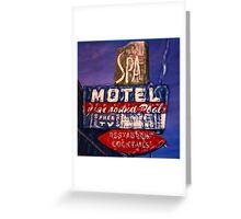 Spa Motel Greeting Card