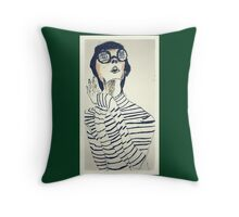 mod woman #1 Throw Pillow