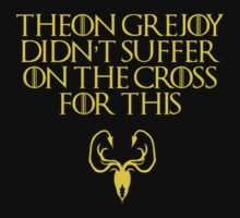 Theon Greyjoy Didn't Suffer on the Cross For This by magiceve