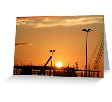 SUNSET on   Irelands  tiger. Greeting Card