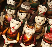 Vietnamese Water Puppet Dolls by Kerry Duffy