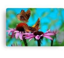 BFF Best Friend Fritillaries  Canvas Print