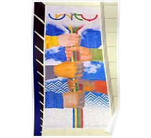 Unity Banner (SLC Skyscraper During 2002 Winter Olympics) Poster
