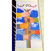 Unity Banner (SLC Skyscraper During 2002 Winter Olympics) Photographic Print