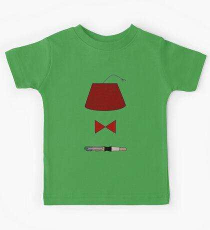 11th Doctor Minimalist Piece Kids Tee