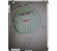 green m & m  iPad Case/Skin