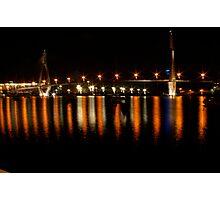 Anzac Bridge at Night Photographic Print