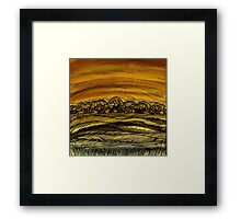 Fall.Hand draw  ink and pen, Watercolor, on textured paper Framed Print