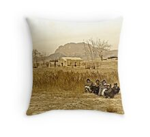 """Humanitarian Mission - Kandahar, Afghanistan"" Throw Pillow"