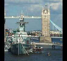 London Bridge and Ship by Christine Richardson