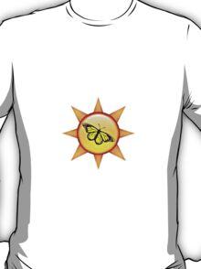 Sun Monarch Butterfly Design T-Shirt