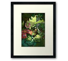 Grass-Type Starter - Pokemon Framed Print