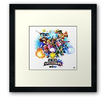 Super Smash Bros. for Wii U [Full Art] Framed Print