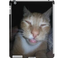 silly trapper cat iPad Case/Skin