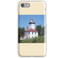 Saginaw River Rear Range Light iPhone Case/Skin