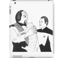 Worf, Spot and Data iPad Case/Skin