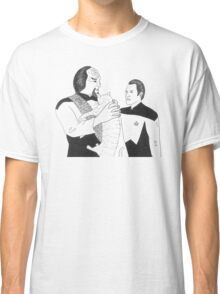 Worf, Spot and Data Classic T-Shirt