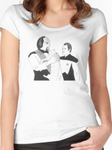 Worf, Spot and Data Women's Fitted Scoop T-Shirt